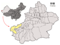 Location of Kizilsu Prefecture within Xinjiang (China).png