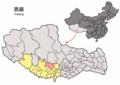 Location of Xaitongmoin within Xizang (China).png