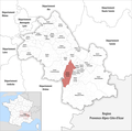 Locator map of Kanton Fontaine-Vercors 2019.png