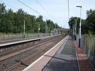 Lochwinnoch railway station Railway station in Renfrewshire, Scotland