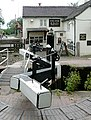 Lock gates and The Star, Stone, Staffordshire - geograph.org.uk - 1479165.jpg