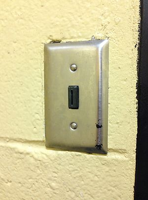 Vandal-resistant switch - Tamper-resistant switch used for corridor and restroom lighting controls in public buildings
