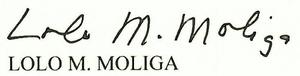 Lolo Matalasi Moliga - Image: Lolo Moliga Signature