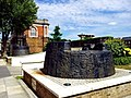 London-Woolwich, Royal Arsenal, steam hammer bases at Wellington Park - Arsenal Way 01.jpg