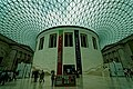 London - Great Russell Street - British Museum - Great Court 2000 by Buro Happold - View NW on the circular Reading Room.jpg