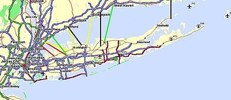 Long Island Ferry Map Long Island Sound link   Wikipedia