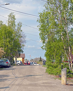 Ragged Ass Road (street) Unpaved street in Yellowknife, capital of Canadas Northwest Territories