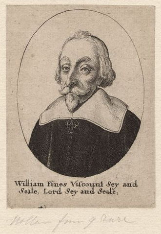 William Fiennes, 1st Viscount Saye and Sele - Engraving of Lord Saye by Wenceslas Hollar, mid-seventeenth century.