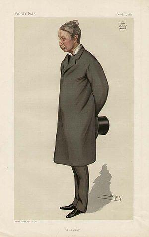 "Lawrence Palk, 1st Baron Haldon - ""Torquay"" Lord Haldon as caricatured by Spy (Leslie Ward) in Vanity Fair, March 1882"