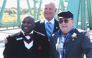 Bernard Lown - Dedication of the Bernard Lown Peace Bridge in Oct.2008. Rightmost: Bernard Lown