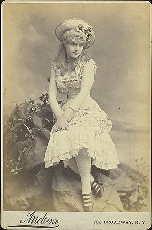 English: 1882 photo of Lillian Russell in the ...
