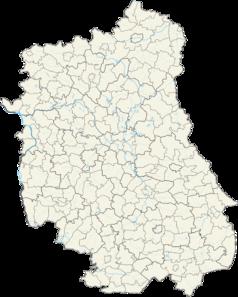 Mapa lokalizacyjna województwa lubelskiego