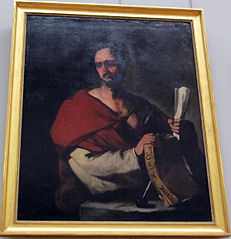 Philosopher Holding a Book and a Roll of Paper