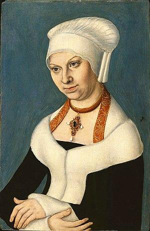 Barbara Jagiellon - Image: Lucas Cranach d.Ä. Bildnis Barbara von Sachsen (Gemäldegalerie, Berlin)