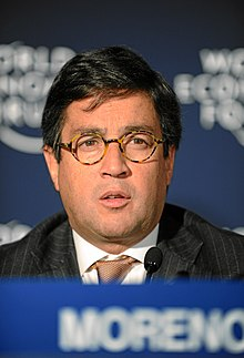 Moreno at the World Economic Forum in Davos, Switzerland in 2011.