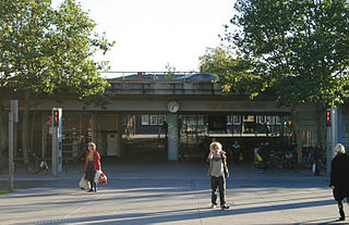 railway station in Lyngby-Taarbæk Municipality, Denmark