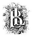 Lyon ancien et moderne - Dessin de la page de garde (initiales de l'éditeur L. Boitel), 1843.jpg