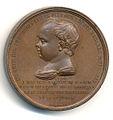Médaille pour le baptême du Duc de Bordeaux, revers.jpg