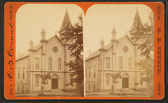 Gorham, Maine - M. E. Church -- erected in 1880