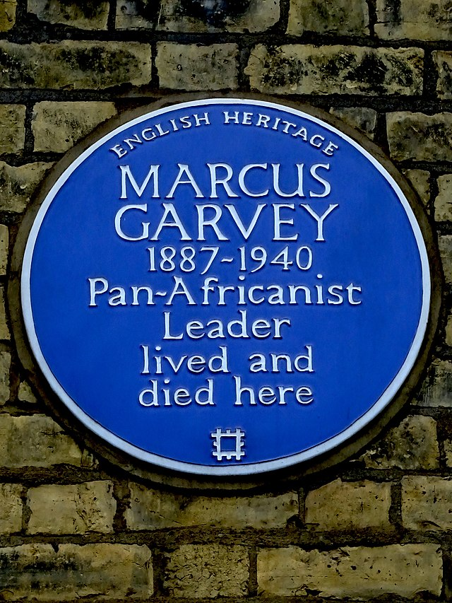 Marcus Garvey blue plaque - Marcus Garvey 1887-1940 pan-Africanist leader lived and died here