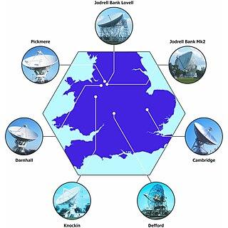 MERLIN Radio interferometer in the UK