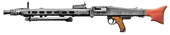 MG 42 general-purpose machine gun with retracted bipod MG42 Sideview.jpg