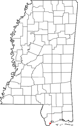 Location of Clermont Harbor, Mississippi