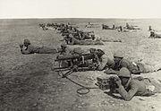 Machine gun corps Gaza line WWIb edit2