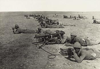 جُنُودٌ عُثمانيُّون خِلال معركة غزَّة الثانية