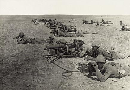 Ottoman Machine Gun Corps, Tell el Sheria Gaza Line