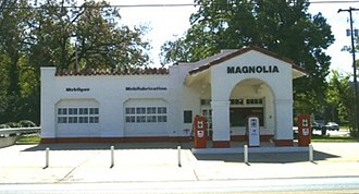 Central High School Neighborhood Historic District - Image: Magnolia Gas Station