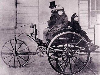 Magnus Volk - Magnus Volk on his electric dog cart, 1897