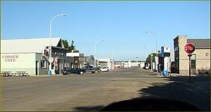 Doon, Iowa - Main Street of Doon, Iowa in 2013
