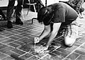 Making an AIDS memorial quilt panel on behalf of Associated Students, Inc. (ASI) Fresno State Fall 1994 (23218174580).jpg