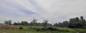 Malahang - Area around the old Malahang airstrip facing South East.  The rebuilt Japanese runway was located to the left side of the photo where the Malahang Industrial estate is located