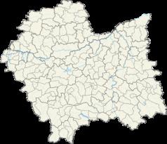 Mapa lokalizacyjna województwa małopolskiego