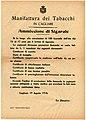 Manifattura dei tabacchi di Cagliari, bando di concorso per l'assunzione di 100 sigaraie, 19 agosto 1918 - san dl SAN IMG-00001416.jpg