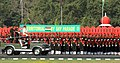 Manohar Parrikar inspecting the Territorial Army Day Parade on the occasion of its 66th Anniversary, in New Delhi on October 09, 2015. The Addl. DG TA, Major General Surinder Singh is also seen.jpg
