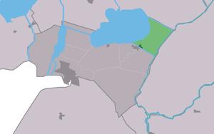 Delfstrahuizen - Image: Map NL Lemsterlân Dolsterhuzen