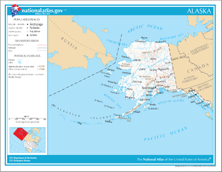 An Enlargeable Map Of The State Of Alaska