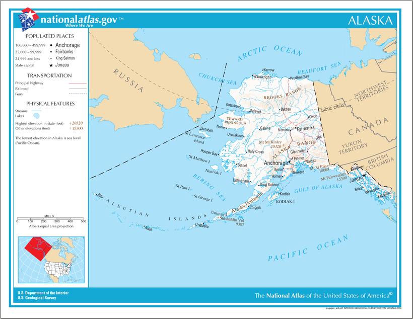 Alaska Maps TourSaver State Of Alaska - Alaska state map