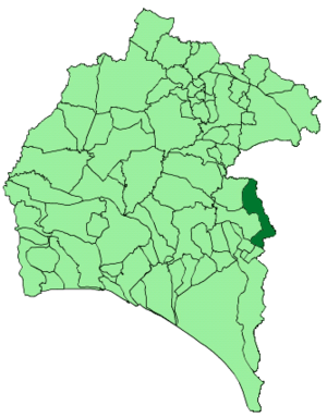 Escacena del Campo - Map of Escacena del Campo, Huelva