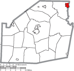 Location of Greenfield in Highland County