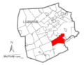Map of Luzerne County, Pennsylvania Highlighting Dennison Township.PNG