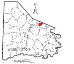 Location of McMurray in Washington County