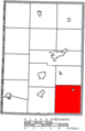Map of Mercer County Ohio Highlighting Marion Township.png