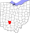 Map of Ohio highlighting Fayette County.svg