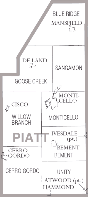 Piatt County, Illinois - Map of Piatt County, Illinois