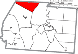 Location of Deerfield Township in Ross County