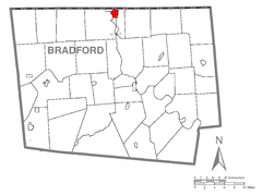 Map of Sayre, Bradford County, Pennsylvania Highlighted.png